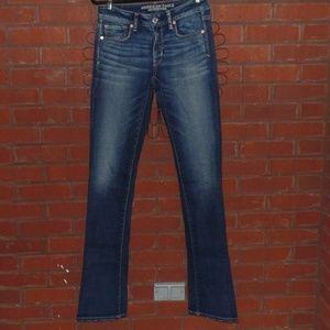 American Eagle Skinny Kick Dark Wash Jeans 6 Tall